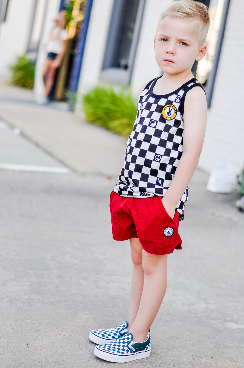Boys CHECKER TANK