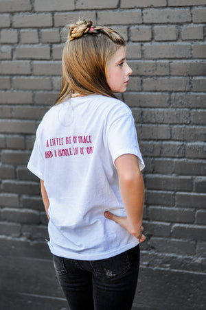 "Adults "" A Little Bit of Grace & Grit"" Tee"