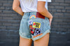 Women's Custom Patched Shorts