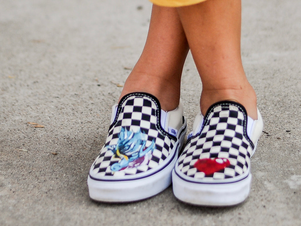 Kids Custom Patched/Painted Converse & Vans Sneakers