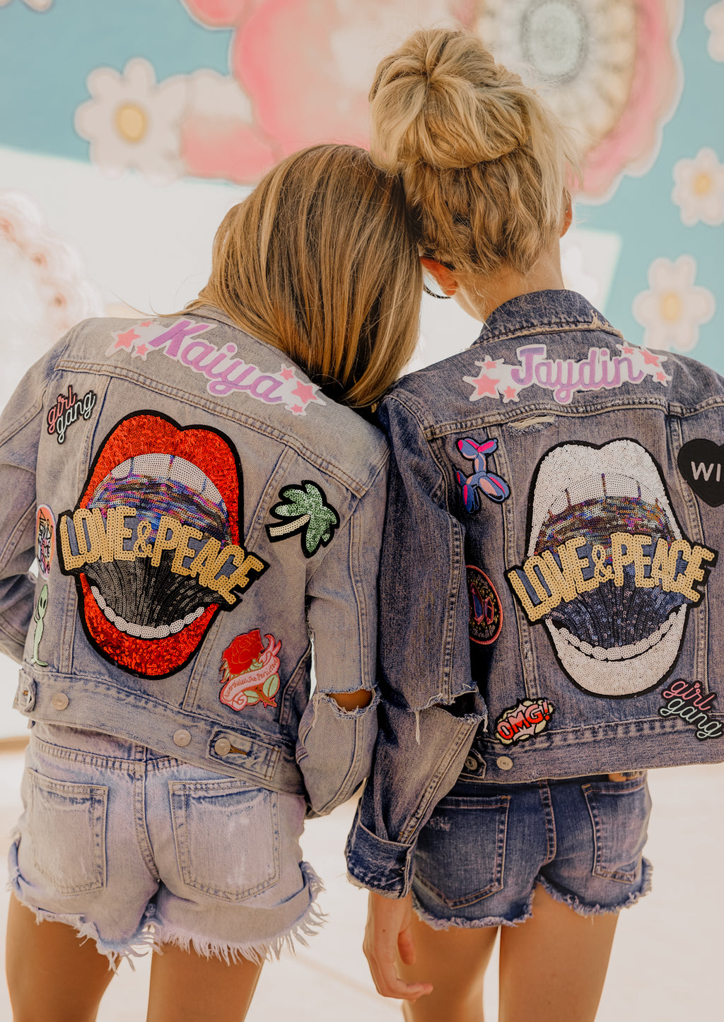 Kids Custom Name Patch Jacket with Patches (Girl Name & Boy Patches)