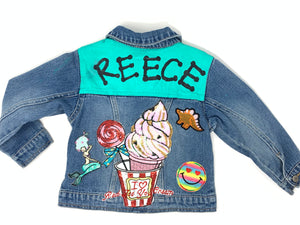 Kids Custom Hand Painted Name Jacket with Patches