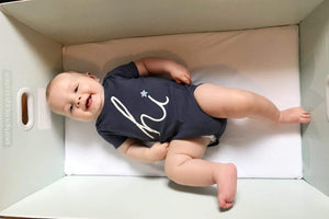 Cute baby in Baby Bed Box