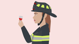 Fighting Fires with her Menstrual Cup
