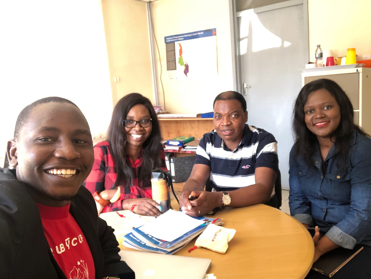 Alfred Muli in Malawi for Ruby Cup Menstrual Cup