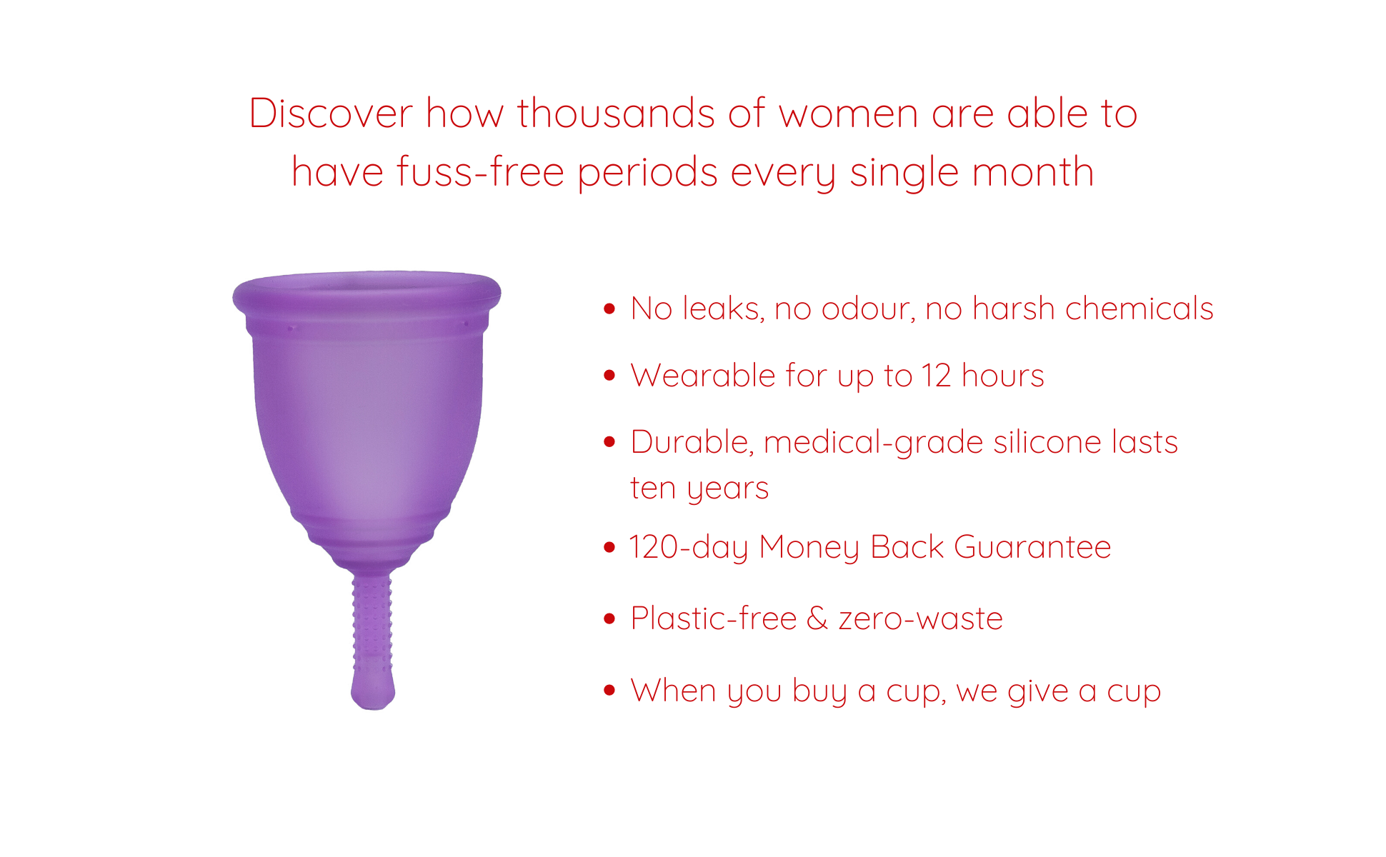 Ruby Cup benefits