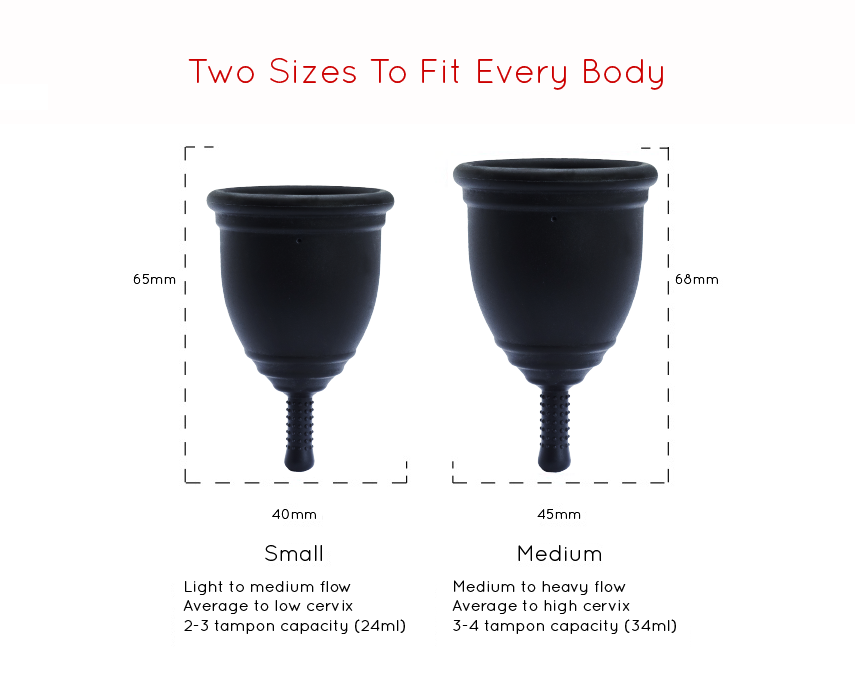 menstrual cup sizing charts can help you choose