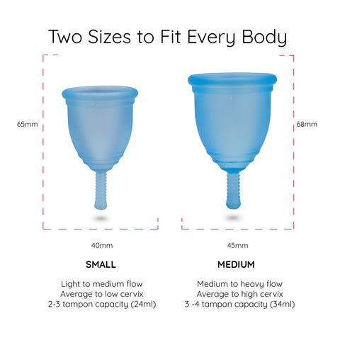 Menstrual cup size chart