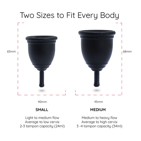 Menstrual cup size
