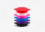 Collapsible Silicone Sterilizing Cups for Menstrual Cups - Ruby Clean Red, Black, White, Blue, Pink, Purple