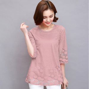 83fb28a65a83d5 M-5XL Women Summer Blouses shirt Chiffon Women Tops 2019 New Fashion Women  Blouses Plus