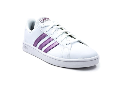 Tenis Adidas Grand Court FW0810 Blanco/Rosa-Mujer