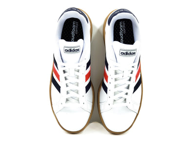 Tenis Adidas Grand Court EE7888 Blanco/Cafe-Hombre