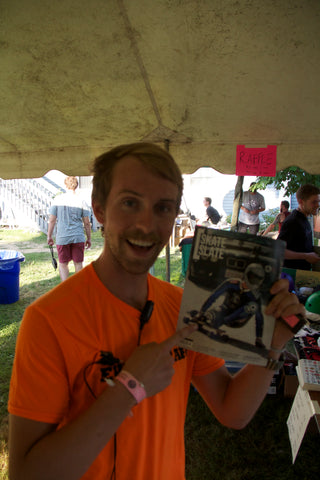 Mike Girard with his Patriarchal Mustache and SkateSlate featuring him on the Cover!