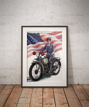 Motorcycle Patrol Art