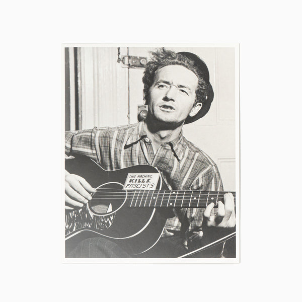 Blackwing Volume 223 Postcards - Woody Guthrie Photograph