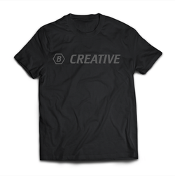 """Be Creative"" T-Shirt - Black"
