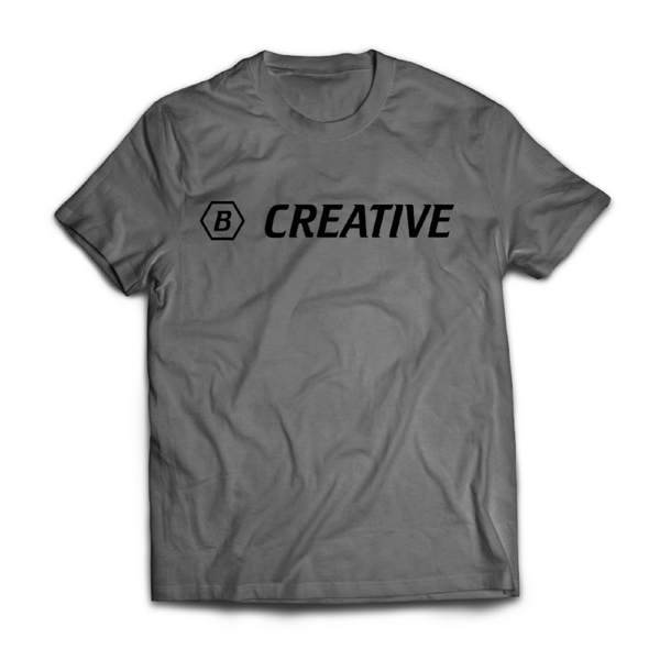 """Be Creative"" T-Shirt - Grey"
