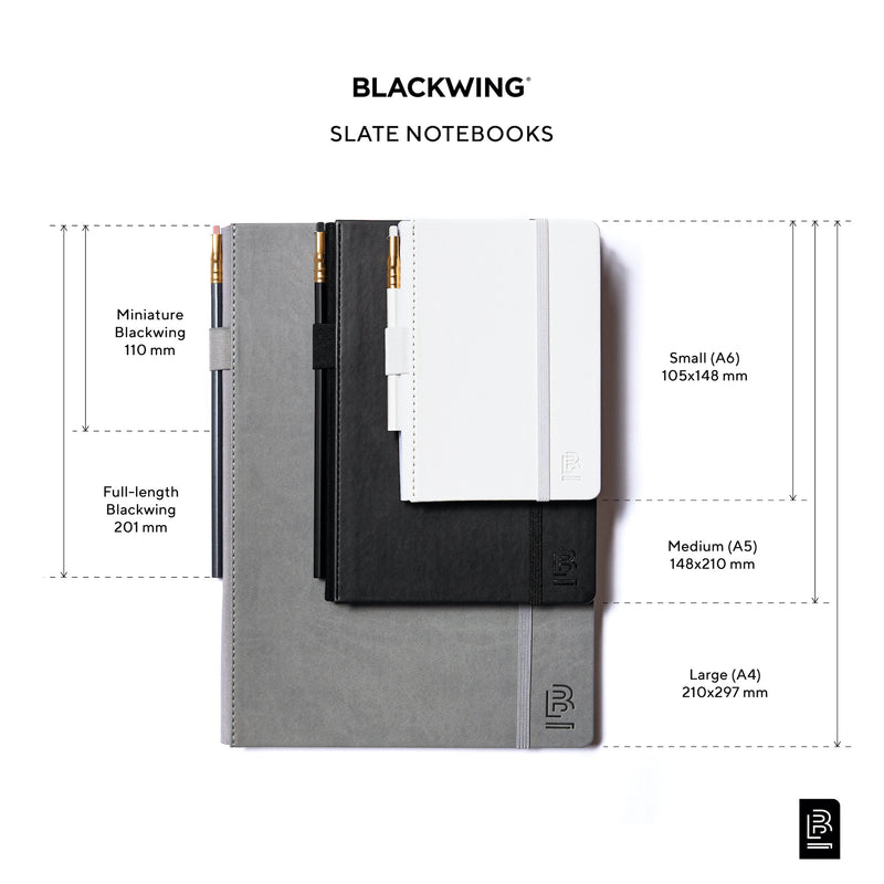 Blackwing Slate Notebook Sizing Chart - A4, A5, A6