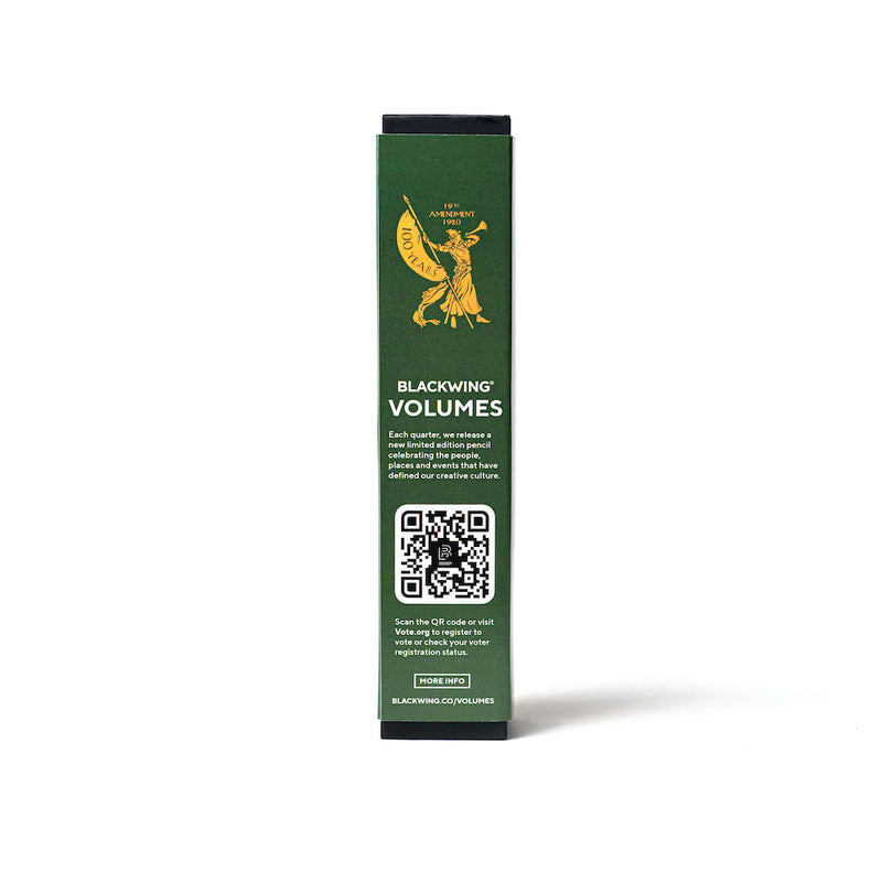 Blackwing Volume XIX 12 pack box - scan the code to check your voter registration status