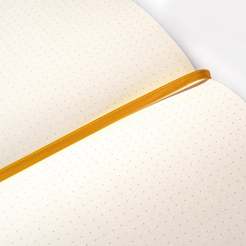 Blackwing Eras Notebook - Dot Grid Paper with gold ribbon