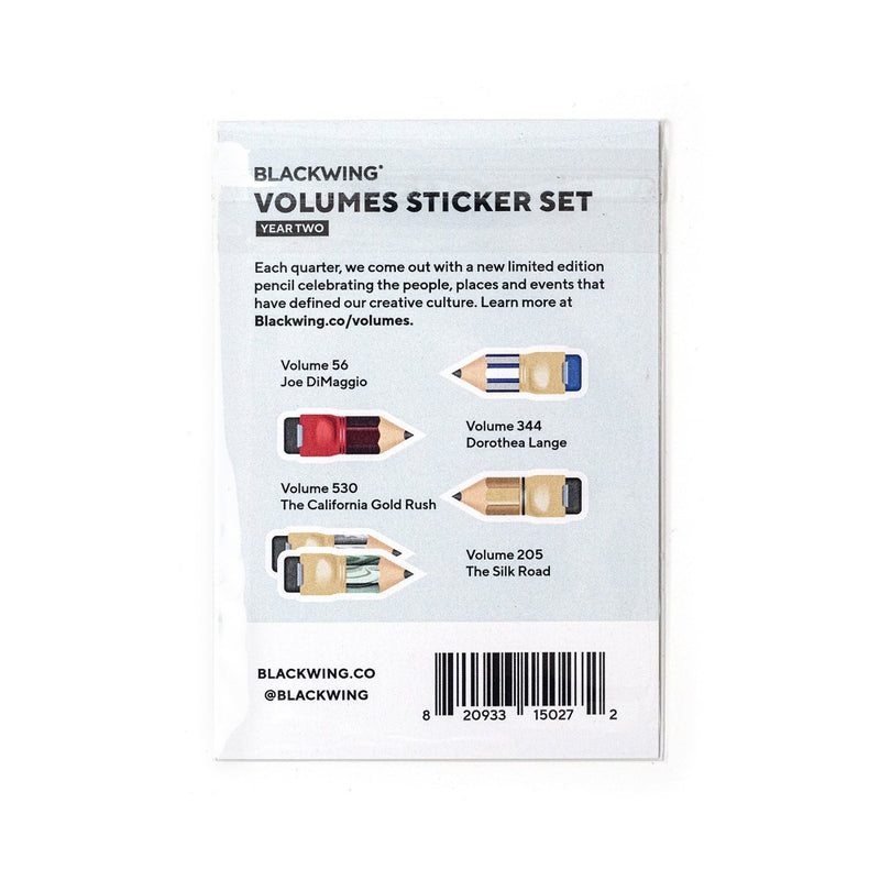 Blackwing Volumes Sticker Set - Year 2 - Back