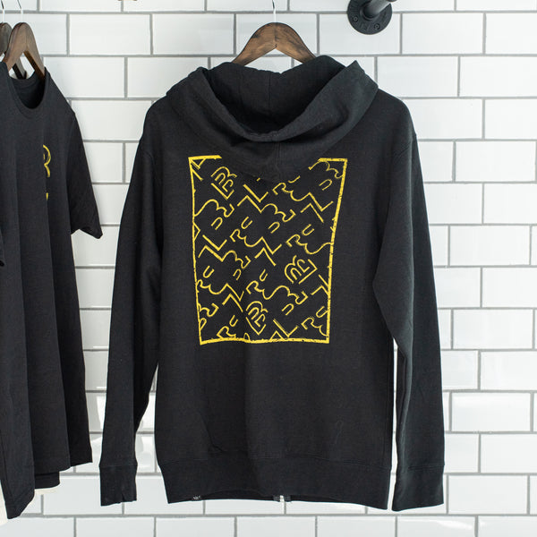 Blackwing Sketch Zip-up Hooded Sweatshirt