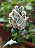 $1 PLATINUM DELUXE BUDDING ORIGAMI MONEY ROSES
