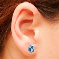 WOVEN OCTAGONAL STUD EARRINGS