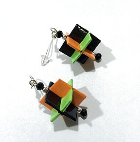 4SQUARED ORIGAMI EARRINGS