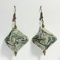 Triangular money earrings