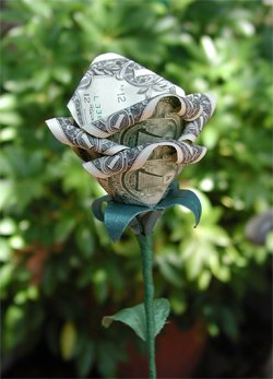 $1 DELUXE BLOOMING ORIGAMI LUCKY MONEY RO$E