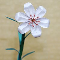Origami Lily with Copper Stamens
