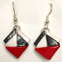 Delta paper earrings