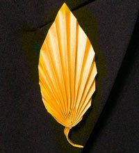 Origami Leaf lapel pin