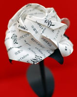 """I Love You"" Origami Paper Rose"