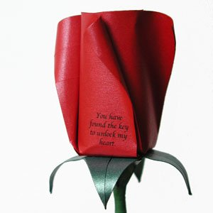 Origami Bud Message Rose