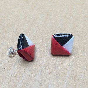 Delta paper stud earrings