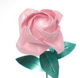 Pink Ribbon Breast Cancer Origami Rose