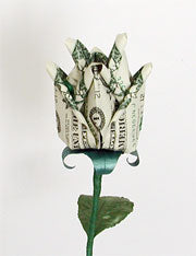 $1 DELUXE BLOSSOMING ORIGAMI LUCKY MONEY RO$E