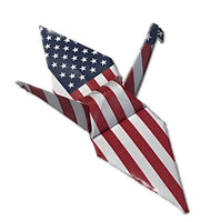Origami Crane with USA flag pattern