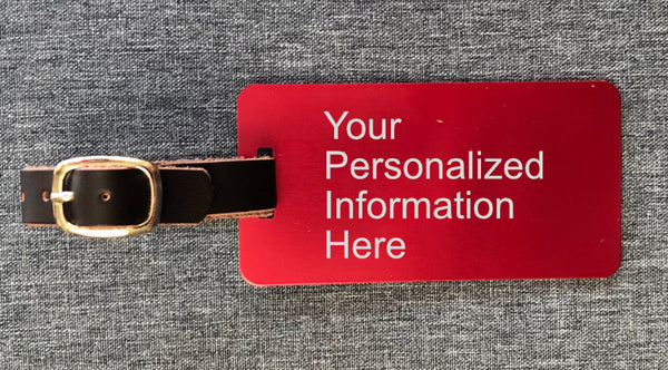 Personalized Laser Engraved Luggage Tag