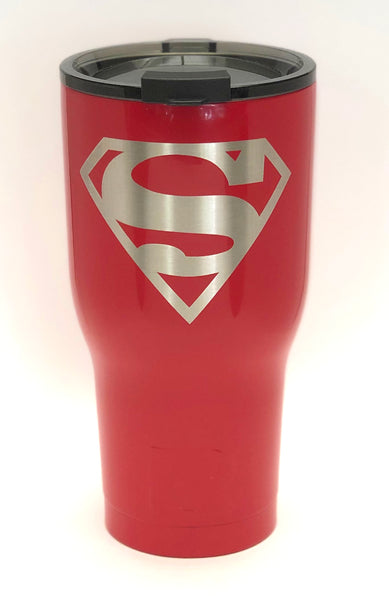30 Ounce Red Custom Superman Tumbler