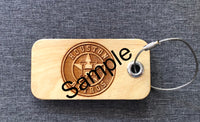 Wooden Personalized Laser Engraved Luggage Tag