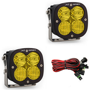 Baja Designs LED Light Pods Amber Lens Driving Combo Pattern Pair XL Sport Series