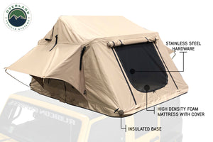 Overland Vehicle Systems TMBK 3 Person Roof Top Tent with Green Rain Fly