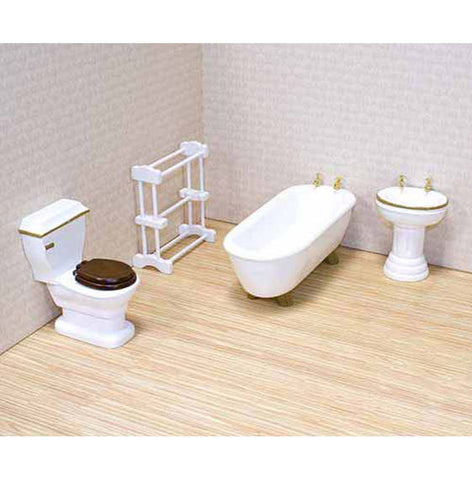 Dollhouse Furniture Bathroom Set - Melissa & Doug