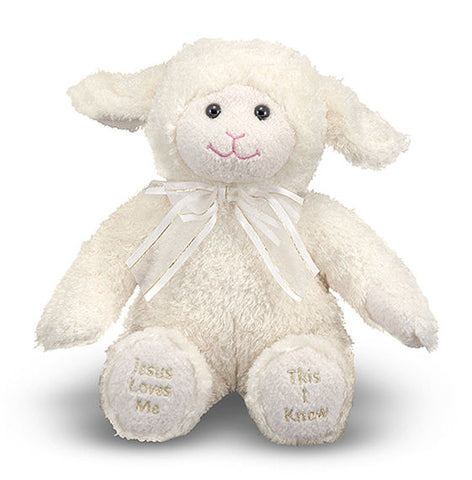 "Melissa & Doug Princess Soft Toys ""Jesus Loves Me This I Know""  8.5"" Lamb"