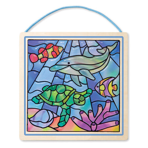 Melissa & Doug Stained Glass Made Easy Ocean