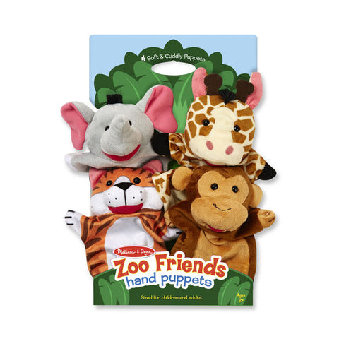 Melissa & Doug Zoo Friends 4 Pk Hand Puppets